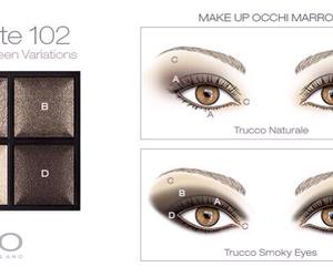 brown, eyes, and make-up image