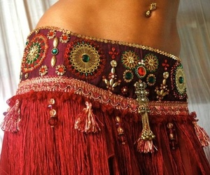 belly button piercing and belly dance image