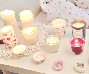 candle, pink, and girly image