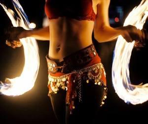 firey belly dance image