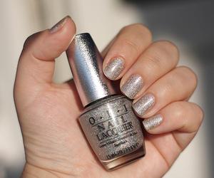 nails, nail polish, and glitter image