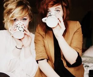 girl, friends, and cup image