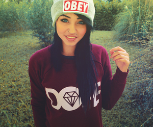 obey girl and dope girl image