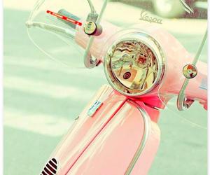 pink, Vespa, and vintage image