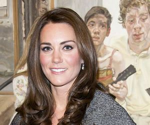 kate middleton and Lucian Freud image