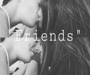 friendship, kiss, and girl image