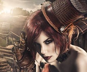 fashion, hat, and steampunk image