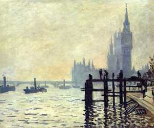 art, london, and claude monet image