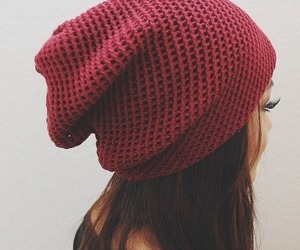 girl, fashion, and beanie image