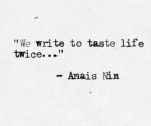 quotes, write, and anais nin image