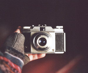 analog, camera, and sweater image