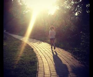 healthy, jogging, and morning image