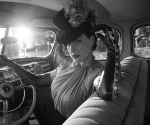 car, Dita von Teese, and Pin Up image