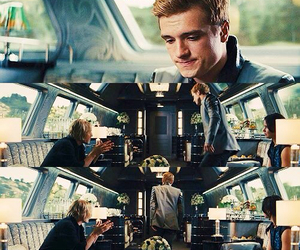 catching fire, josh hutcherson, and love image