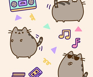 cat, pusheen, and music image