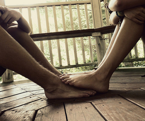 barefeet, summer, and couple image