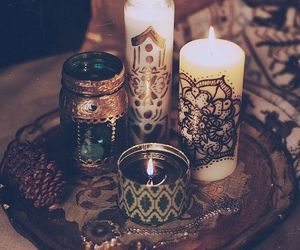 candle, light, and boho image