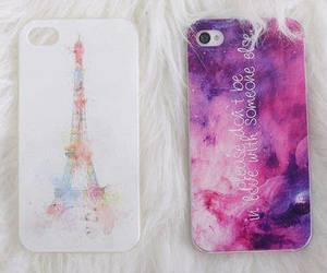 iphone, paris, and galaxy image