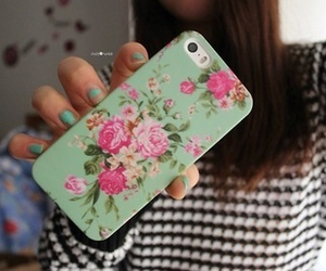 flowers, phone, and iphone case image