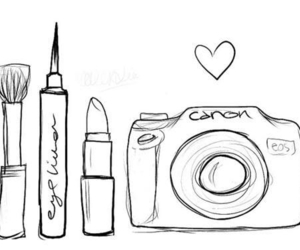 makeup, canon, and camera image