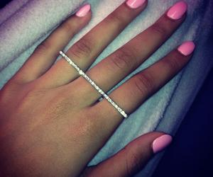 diamond, nails, and pink image