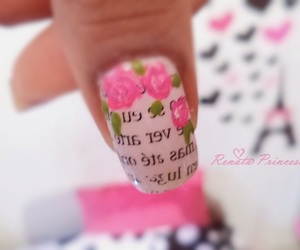 nails, flowers, and cute image