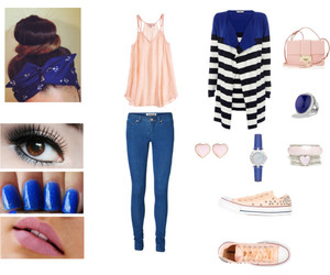 baby pink, blue, and clothes image