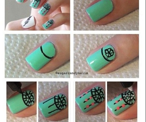 nails, tutorial, and Dream image