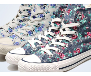 converse floral sneakers image