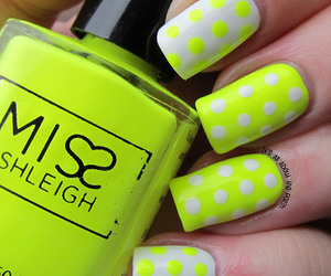 nails, neon, and fashion image