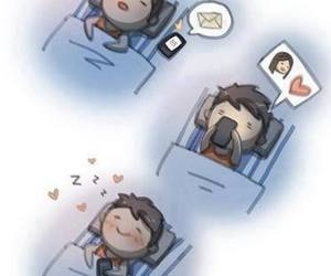 love, boy, and message image