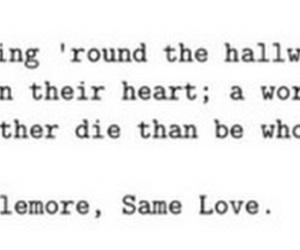 Lyrics, same love, and macklemore image
