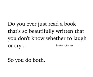 book, cry, and laugh image
