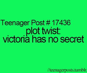 teenager post, victoria secret, and funny image
