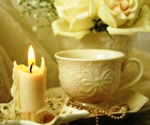 roses, yellow, and candles. cups image