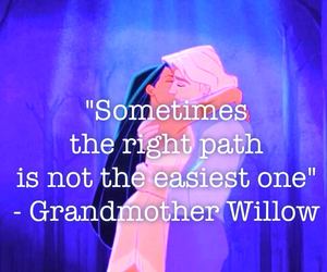 pocahontas, quote, and willow image