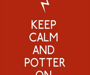 keep calm, harry potter, and potter image