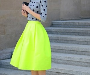fashion, neon skirt, and Hayon image