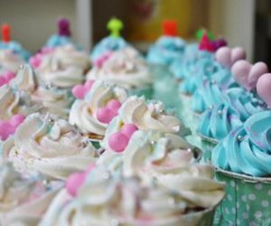 birthday cake, cake, and cupcake image