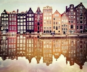city, amsterdam, and house image