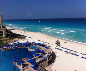 beach, mexico, and resort image