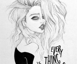 art, drawing, and sky ferreira image
