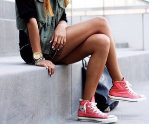 converse, chucks, and outfit image