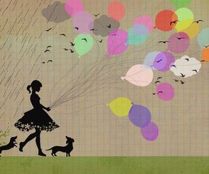 balloons and birds image
