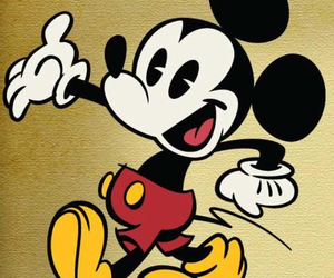 mickey mouse, old, and cute image
