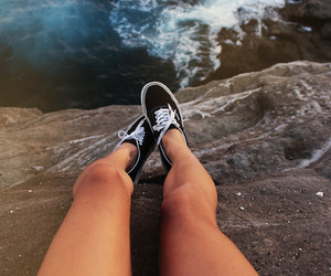 vans, sea, and legs image