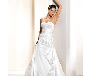 wedding dress and bride gown image