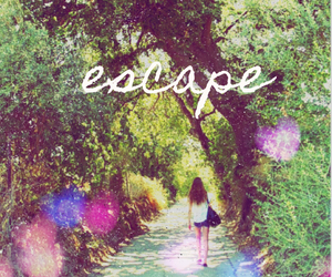 escape, girl, and nature image