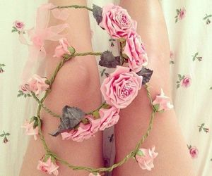 fashion, flower crown, and look image