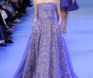 elie saab, lace, and evening dress image